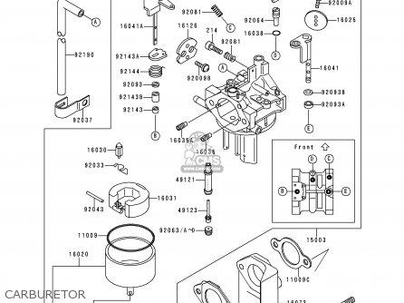 Kawasaki KAF300-C2 MULE550 1998 EUROPE parts lists and
