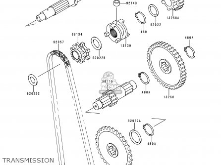 Kawasaki KAF300-C3 MULE550 1999 EUROPE parts lists and
