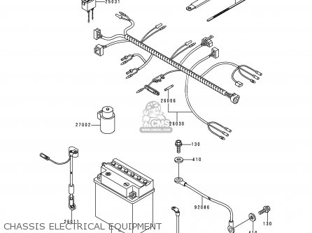 Kawasaki KAF300-C3 MULE550 1999 USA parts lists and schematics