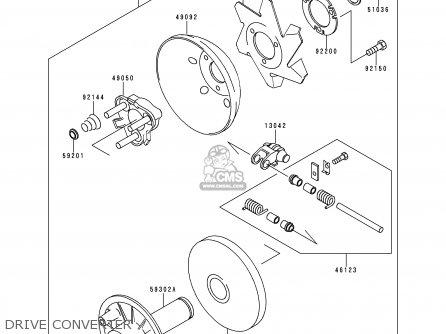 Kawasaki KAF300-C4 MULE550 2000 USA parts lists and schematics