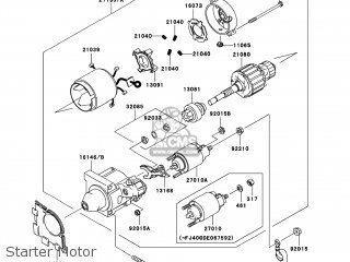 Kawasaki KAF400-A8F MULE610 2008 USA / 4X4 parts lists and