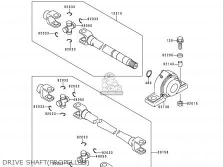 Kawasaki KAF620-A1 MULE2510 1995 EUROPE parts lists and