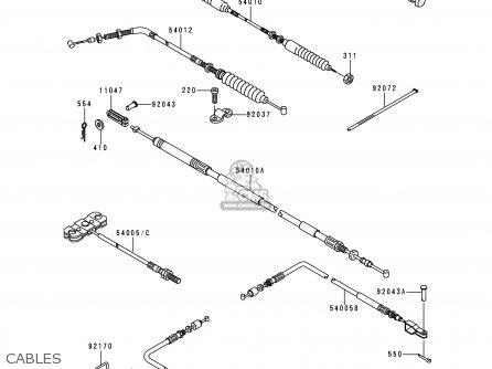 Kawasaki Kaf620-c5 Mule 1998 Usa parts list partsmanual