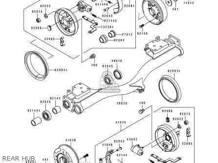 Kawasaki Kaf620-d1 Mule2500e 1990 Europe parts list
