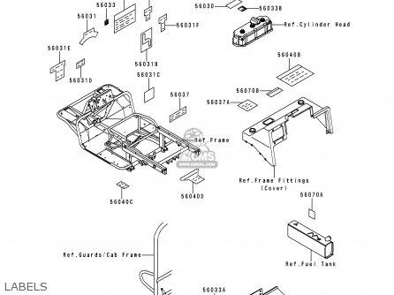 Kawasaki KAF950-A1 MULE2510 2000 USA / DIESEL parts lists