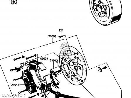 Kawasaki Kc100c5 1987 Usa parts list partsmanual partsfiche