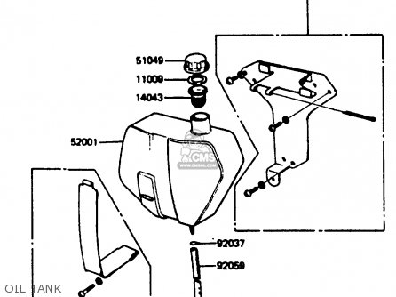 Kawasaki KC100C5 1987 USA parts lists and schematics