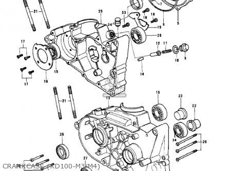Kawasaki KD100-M1 1976 CANADA parts lists and schematics