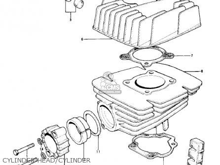 Kawasaki KD100-M3 1978 CANADA parts lists and schematics