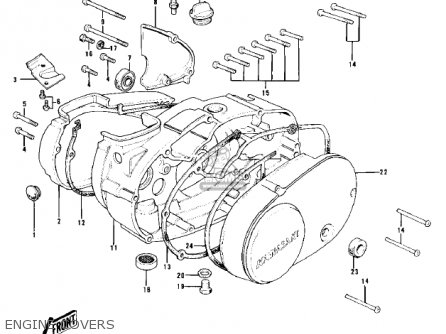 Kawasaki Kd100-m4 1979 Canada parts list partsmanual