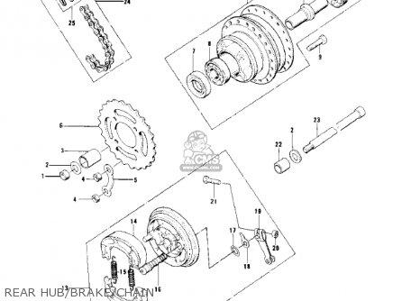 Kawasaki Kd100-m4 1979 Canada parts list partsmanual
