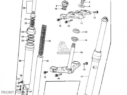 Kawasaki KD125 1975 USA CANADA parts lists and schematics