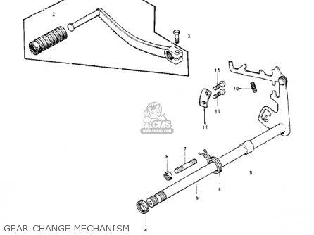 Kawasaki Kd125 1975 Usa Canada parts list partsmanual
