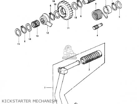 Kawasaki KD125-A2 1976 USA CANADA parts lists and schematics