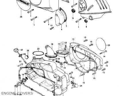 Kawasaki Kd175-a4 1979 Canada parts list partsmanual