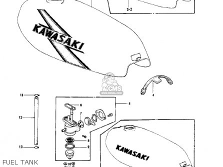 Kawasaki KD175-A4 1979 CANADA parts lists and schematics