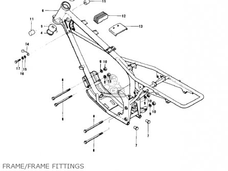 Kawasaki KD80 KD80 1975 parts lists and schematics