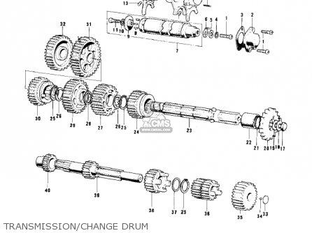 Kawasaki KD80 KD80 1975 parts lists and schematics