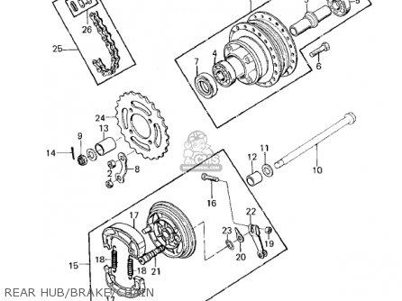 Kawasaki Kd80-m1 Kd80 1980 parts list partsmanual partsfiche