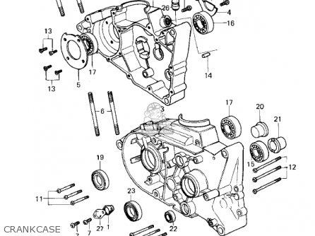 Kawasaki KD80-M2 KD80 1981 parts lists and schematics