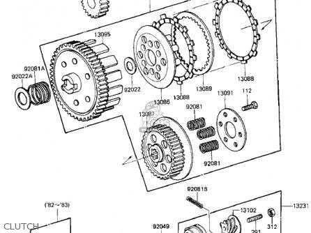 Kawasaki KD80-M5 KD80 1984 parts lists and schematics