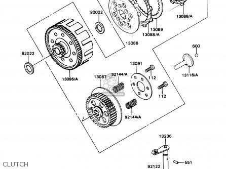Kawasaki KD80-N2 KD80X 1989 USA CANADA parts lists and