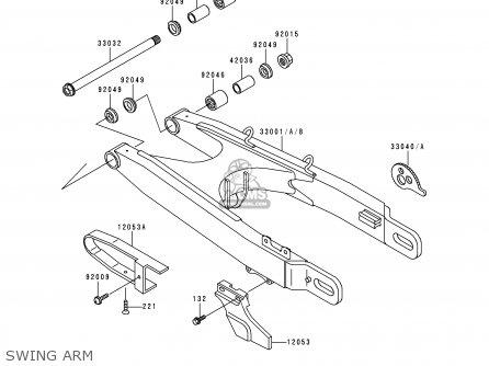 Kawasaki KDX125-A1 1990 EUROPE UK FR AR NR SA SD ST parts