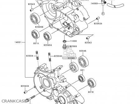 Kawasaki KDX125-A2 1991 EUROPE UK AR GR NR SA ST parts