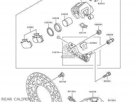Kawasaki KDX125-A3 KDX125SR 1992 EUROPE NR parts lists and
