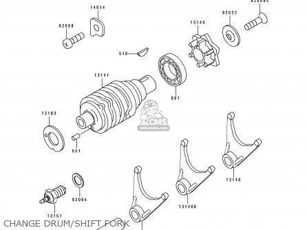 Kawasaki KDX125-A4 KDX125SR 1993 EUROPE NR parts lists and