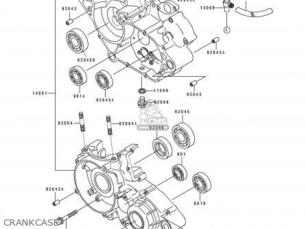 Kawasaki KDX125-B2 KDX125SR 1991 UNITED KINGDOM FR SD