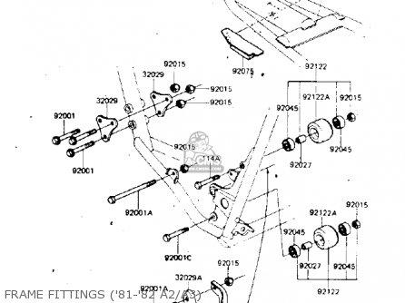 Kawasaki Kdx175-a1 Kdx175 1980 Usa Canada parts list