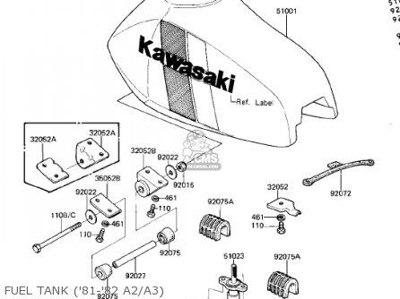 Kawasaki KDX175-A1 KDX175 1980 USA CANADA parts lists and