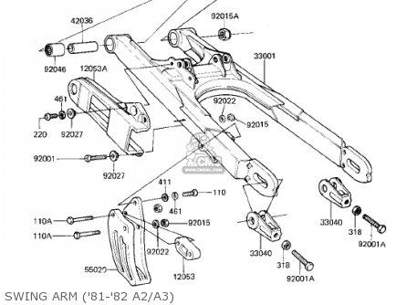 Kawasaki Kdx175-a2 Kdx175 1981 Usa Canada parts list