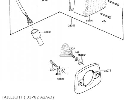Kawasaki KDX175-A2 KDX175 1981 USA CANADA parts lists and