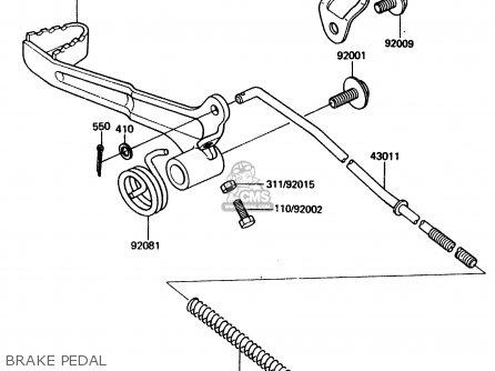 Kawasaki Kdx200-a1 1983 United Kingdom Al parts list