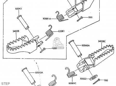 Kawasaki KDX200-A1 1983 UNITED KINGDOM AL parts lists and