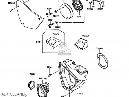 Kawasaki KDX200-C1 1986 USA CANADA parts lists and schematics