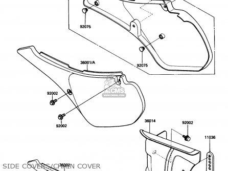 Kawasaki Kdx200-c1 1986 Usa Canada parts list partsmanual