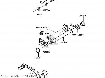 Kawasaki KDX200-C2 1987 USA CANADA parts lists and schematics
