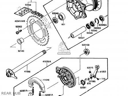 Kawasaki Kdx200-c2 1987 Usa Canada parts list partsmanual
