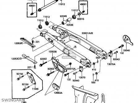 Kawasaki KDX200-C3 1988 USA CANADA parts lists and schematics