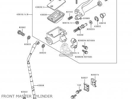Kawasaki KDX200-E1 1989 UNITED KINGDOM AL parts lists and