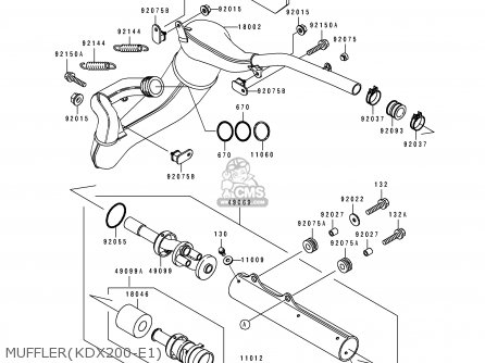 Kawasaki Kdx200-e1 1989 United Kingdom Al parts list