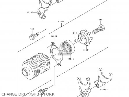 Kawasaki Kdx200-e1 1989 Usa Canada parts list partsmanual