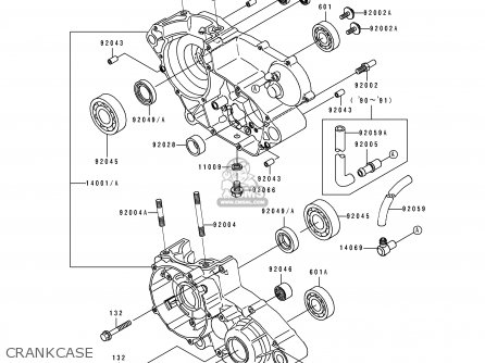 Kawasaki Kdx200-e1 1989 Usa Canada parts list partsmanual