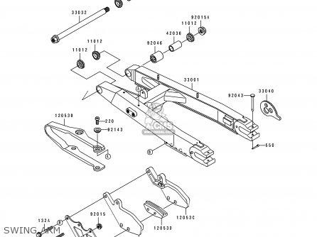 Kawasaki KDX200-E2 1990 UNITED KINGDOM AL AS parts lists