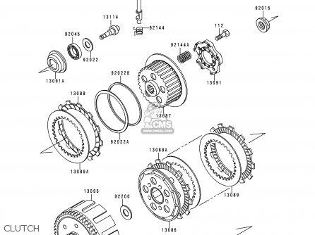 Kawasaki KDX200-E4 1992 UNITED KINGDOM AL parts lists and