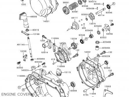 Kawasaki KDX200-E4 1992 USA CANADA parts lists and schematics