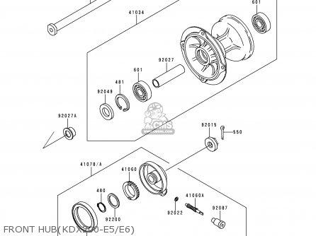 Kawasaki KDX200-E5 1993 UNITED KINGDOM AL parts lists and